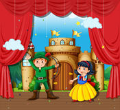 做阶段戏曲的孩子 皇族释放例证