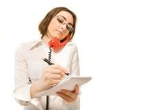 做附注秘书年轻人 免版税库存图片