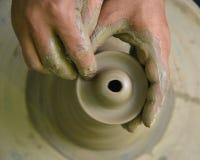 做陶瓷 库存照片