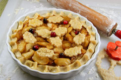 做馅饼的苹果 免版税库存图片