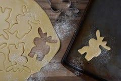 做麋形状的糖屑曲奇饼 库存图片