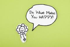 做什么使您愉快/诱导激动人心的行情词组设计 库存例证