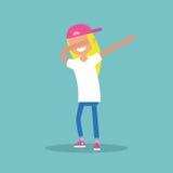 做轻拍的幼小女性角色跳舞 皇族释放例证