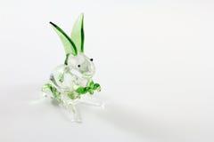 做玻璃的兔子工艺品 库存照片
