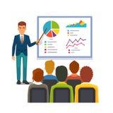 做介绍的商人 企业研讨会 库存例证