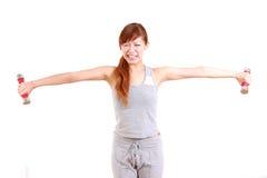 做紧的训练的年轻日本妇女 免版税库存照片