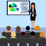 做介绍,会议室2的女商人 免版税图库摄影