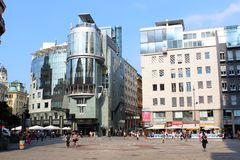 做& CO旅馆, Stephansplatz,维也纳,奥地利 库存照片