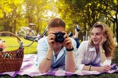 做foto图片的浪漫夫妇 库存照片