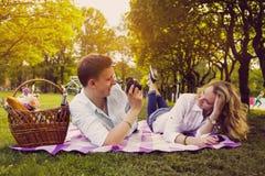 做foto图片的浪漫夫妇 库存图片