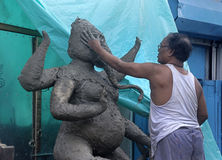 做Ganesha。 免版税库存图片
