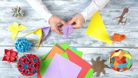 做origami燕子的手 影视素材