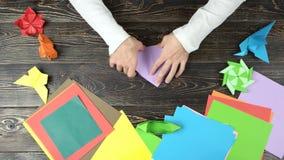 做origami的人折叠的纸 股票录像