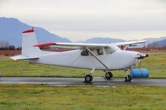 停住和被巩固的小飞机 库存照片
