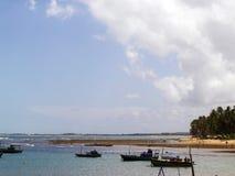 停住的小船港口 库存照片