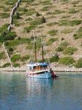 停住的小船 库存图片