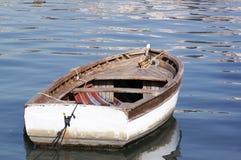 停住的小船 免版税库存照片