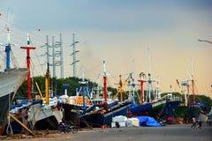 停住的货船 免版税图库摄影