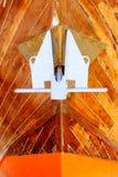 停住颜色详细资料木船身的银 免版税图库摄影