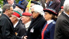停战记念游行的罗伯特埃尔曼在法国 库存照片