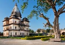 停放与中央邦国家古老地标的印度 库存图片