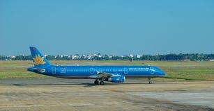 停放在曼德勒国际机场的民用飞机 免版税图库摄影