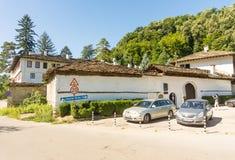 停放在老特罗扬修道院里,保加利亚 库存照片