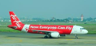 停放在Tan儿子Nhat国际机场的民用飞机 免版税库存照片