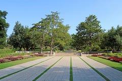 停放拉马特甘Hanadiv,爱德蒙de Rothschild男爵纪念庭院  免版税库存照片