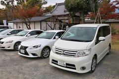 停放日本的汽车 库存照片