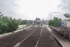 停放火车站,金奈,印度2017年8月12日:金奈公园驻地的一个著名地标零件 库存图片