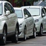 停放的几辆汽车 免版税库存照片
