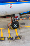 停放的班机细节 免版税库存照片