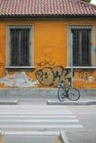停放的自行车 图库摄影