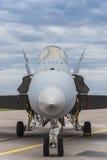 停放的芬兰F/A-18大黄蜂 免版税库存图片
