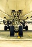 停放的飞机机场 免版税图库摄影