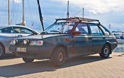 停放的经典之作波兰汽车 免版税库存图片