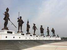 停放皇家忠诚的国王Monument Oriental他七位国王 库存照片