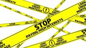 停止付高利息 黄色警告磁带 股票录像