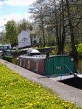 停止利兹利物浦运河的地方在Barnoldswick在兰开夏郡英国 库存照片