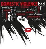 停止家庭暴力 免版税库存图片