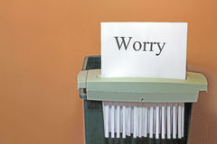 停止忧虑。 库存图片
