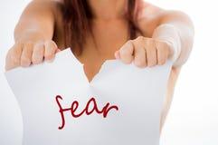 停止恐惧 免版税库存照片