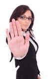 停止您的女商人 免版税库存图片