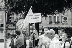 停止战争,地球上的和平 免版税库存照片