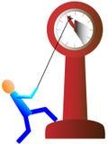 停止显示五分钟的时钟到十二 免版税库存图片