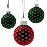 停止查出的装饰品的圣诞节绿色红色 向量例证