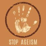 停止歧视老年人 库存例证