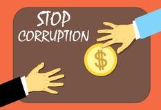 停止汇款的腐败 非法方式 也corel凹道例证向量 向量例证