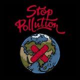 停止污染海报 免版税库存图片